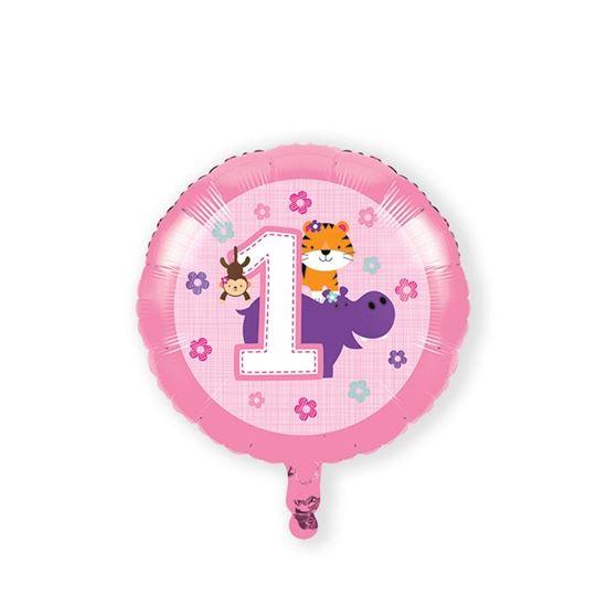 Folieballon one is fun girl 46cm