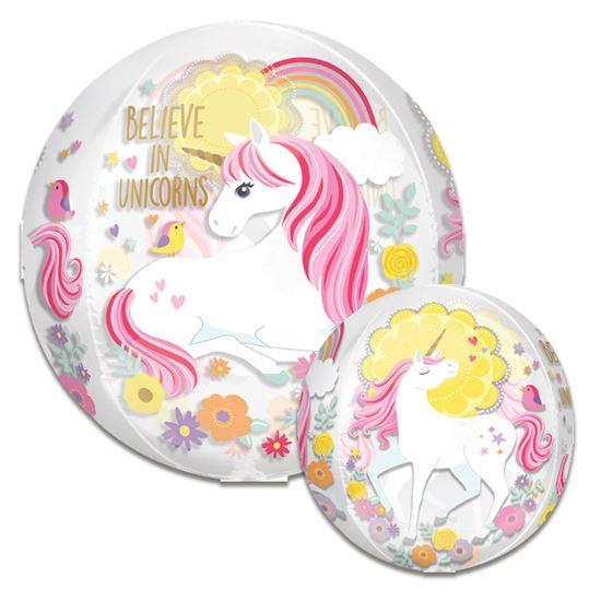 Folieballon orbz believe in unicorns 38cm