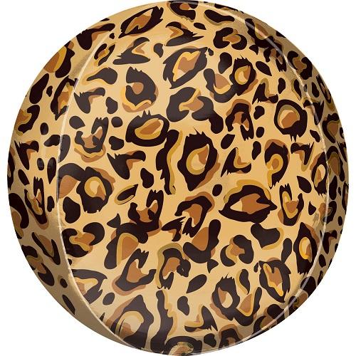 Folieballon orbz luipaard print