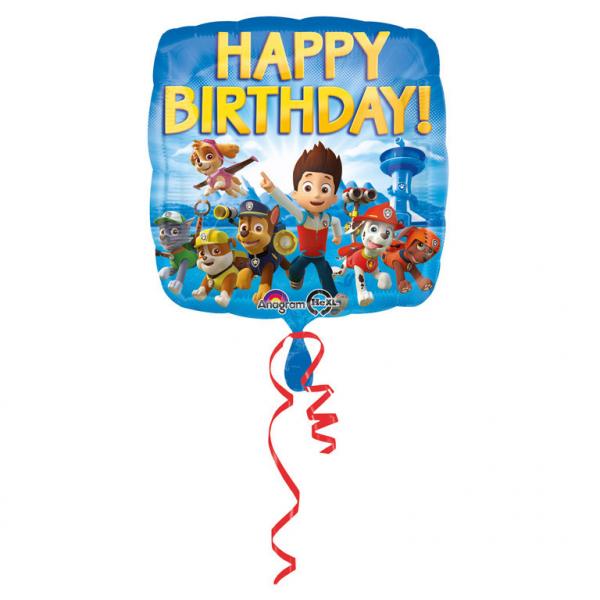 Folieballon Paw Patrol Happy Birthday 43cm