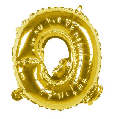 Folieballon Q goud 36cm