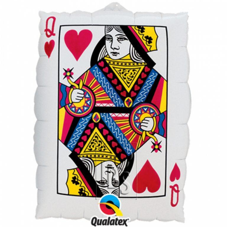 Folieballon Queen of hearts/ ace of spades 76cm