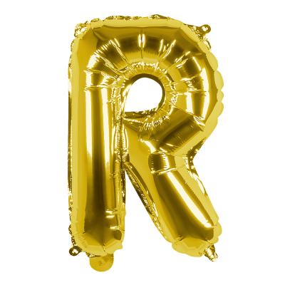 Folieballon R goud 36cm