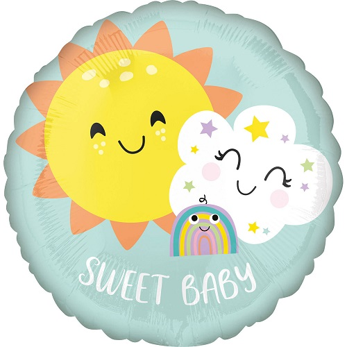 Folieballon regenboog sweet baby