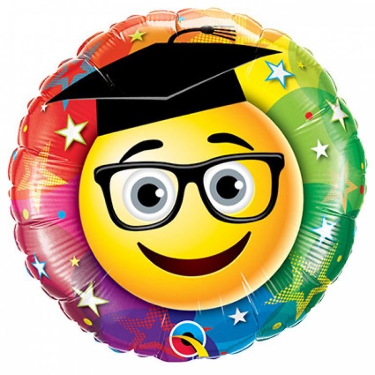 Folieballon smiley geslaagd 46cm