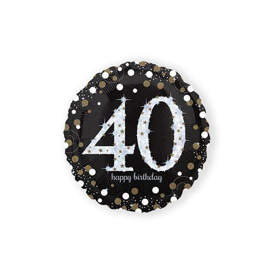 Folieballon sparkling 40 jaar