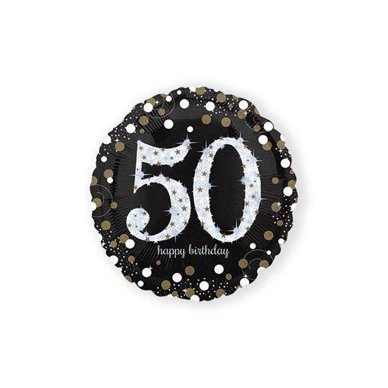 Folieballon sparkling 50 jaar
