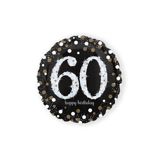 Folieballon sparkling 60 jaar