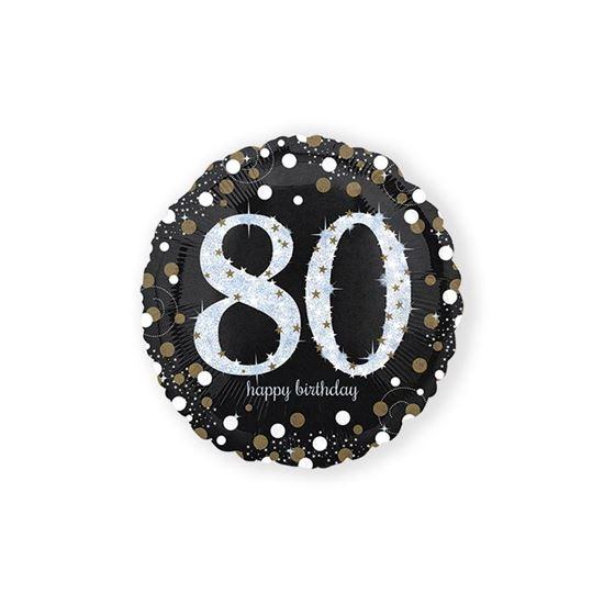 Folieballon sparkling 80 jaar