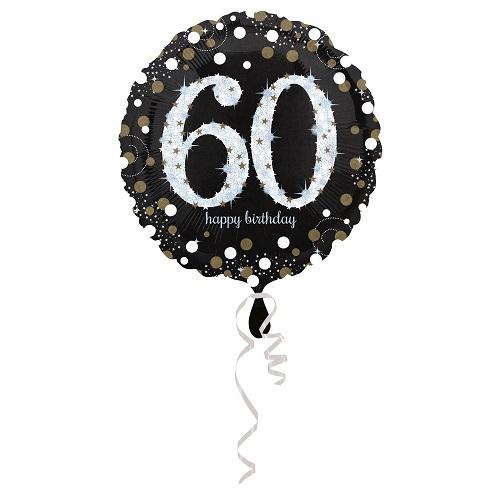 Folieballon sparkling gold 60