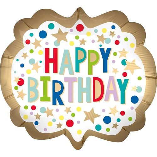 Folieballon supershape Happy Birthday