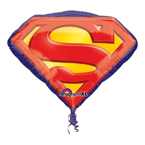 Folieballon supershape superman logo 66cm