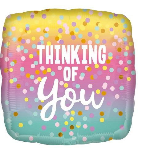 Folieballon thinking of you