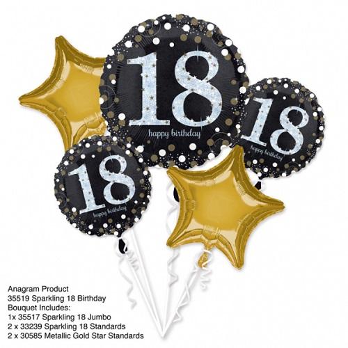Folieballon tros sparkling 18