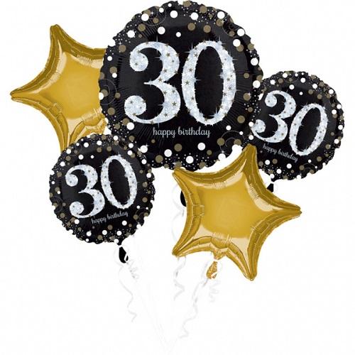 Folieballon tros sparkling 30