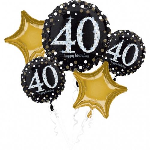 Folieballon tros sparkling 40