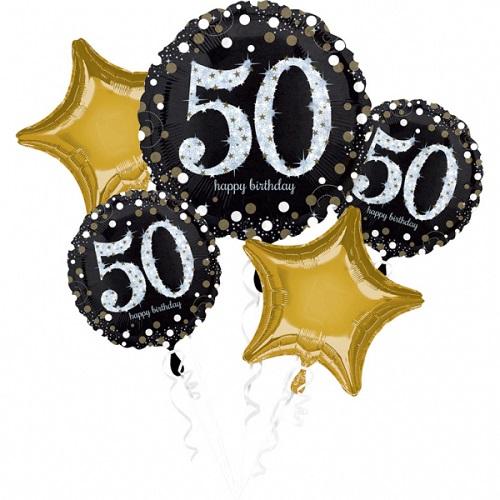 Folieballon tros sparkling 50