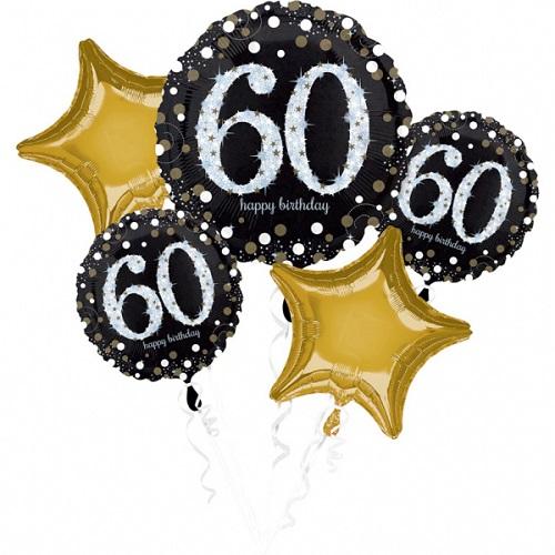 Folieballon tros sparkling 60