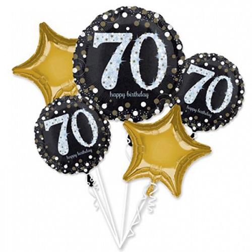 Folieballon tros sparkling 70