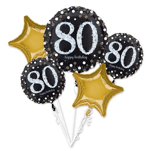 Folieballon tros sparkling 80