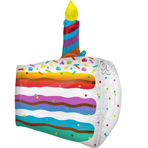 Folieballon Ultrashape Cake Slice 63cm