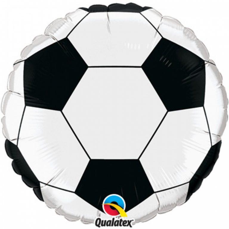 Folieballon voetbal groot 91cm