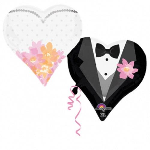 Folieballon wedding couple