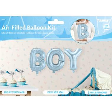 Folieballonnen BOYS blauw 36cm
