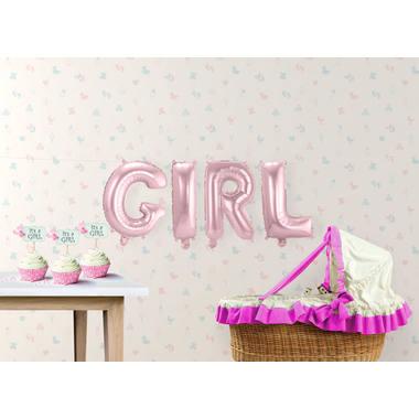 Folieballonnen GIRL roze 36cm