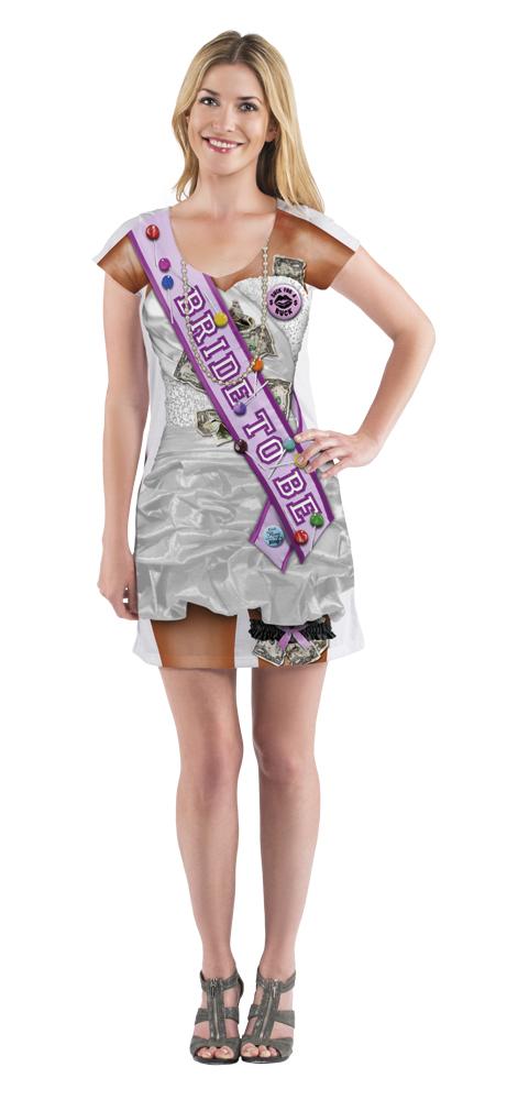 Fotorealistisch jurk Bachelorette - Small