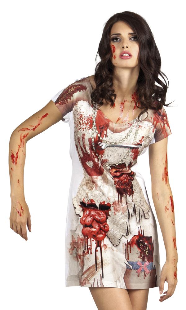 Fotorealistisch jurk Zombie bride - Large