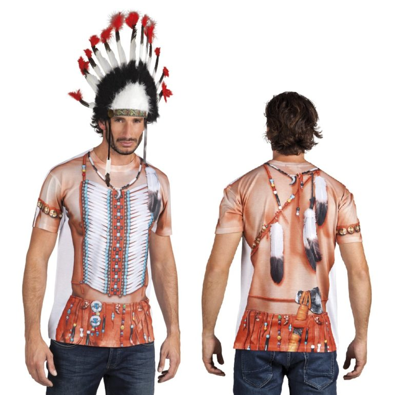 Fotorealistisch shirt Indian - Extra Large