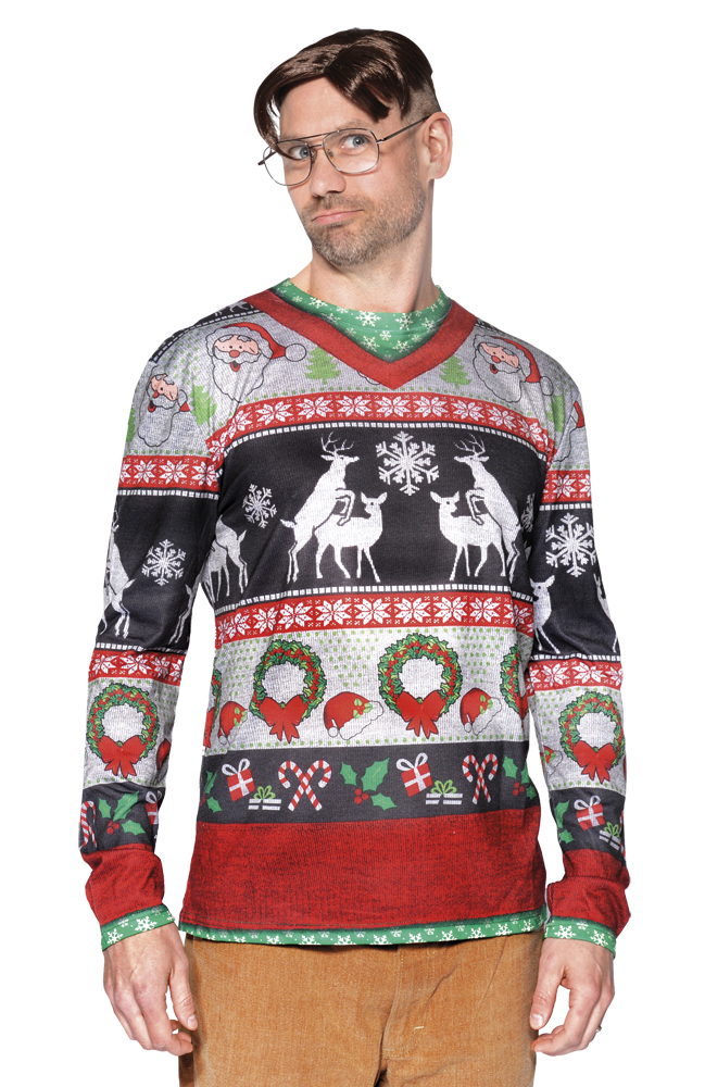 Fotorealistisch shirt Silly Christmas - Large