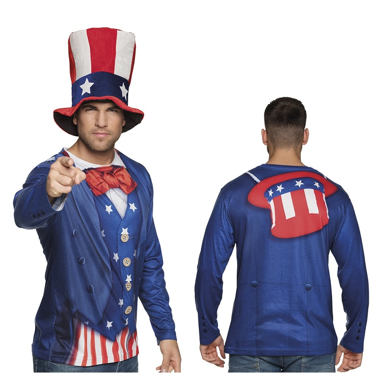 Fotorealistisch shirt Uncle Sam - Large