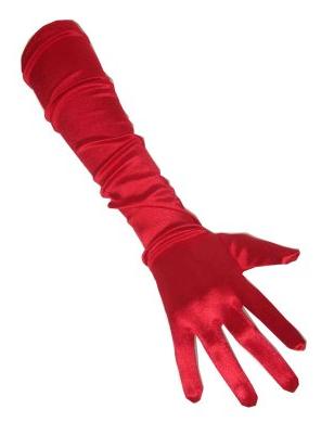 Gala handschoenen rood