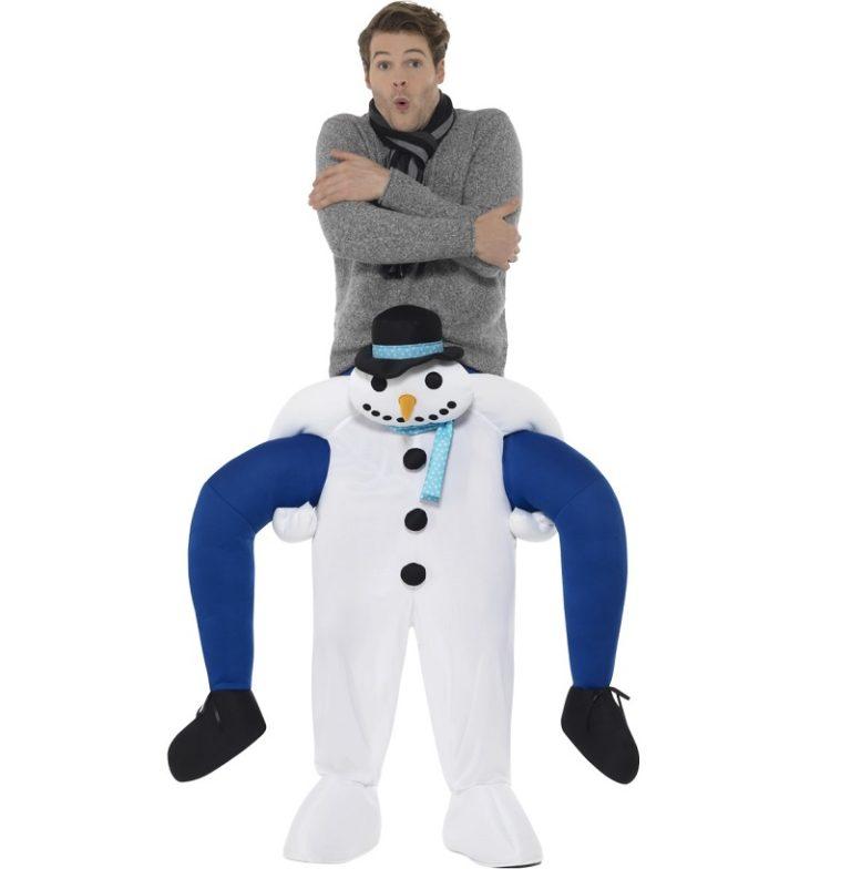 Gedragen door de sneeuwman kostuum