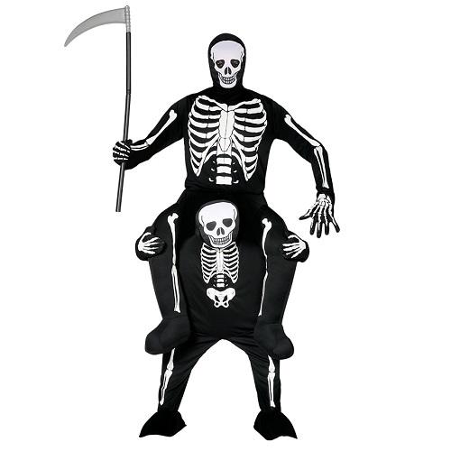 Gedragen door skelet kostuum