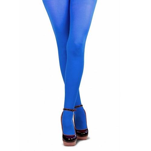 Gekleurde Piet panty blauw L/XL