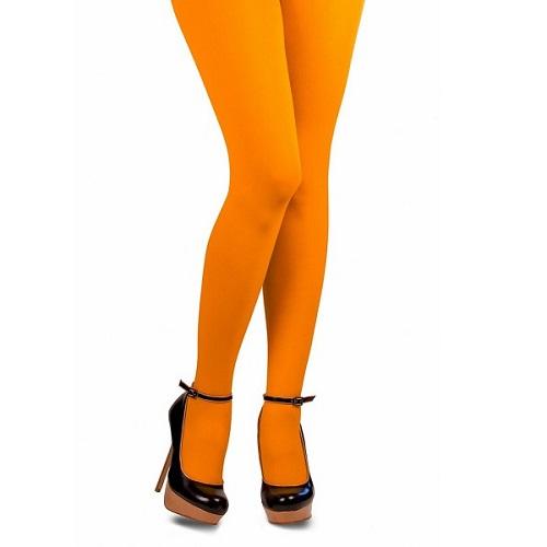 Gekleurde Piet panty oranje L/XL