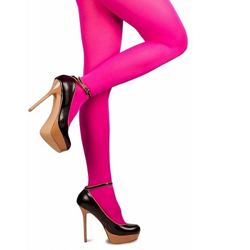 Gekleurde Piet panty roze L/XL