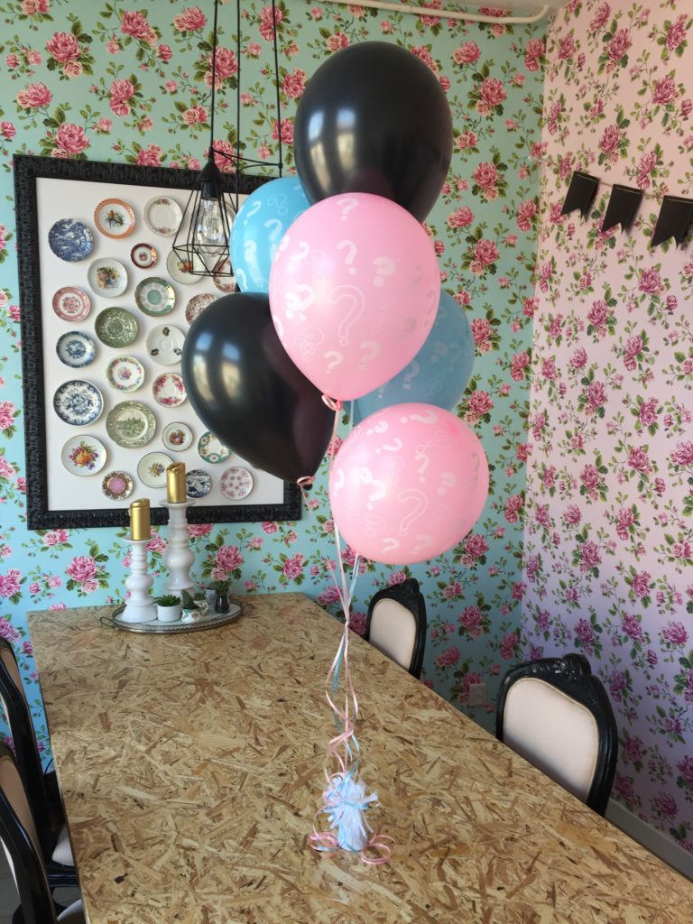 Gender reveal zwarte confetti ballon 35cm