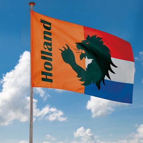 Gevelvlag Holland oranje rood/wit/blauw
