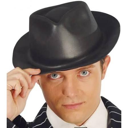 Gleuf hoed zwart plastic