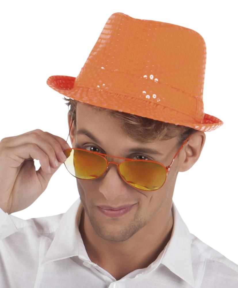 Gleufhoed popstar spangles oranje