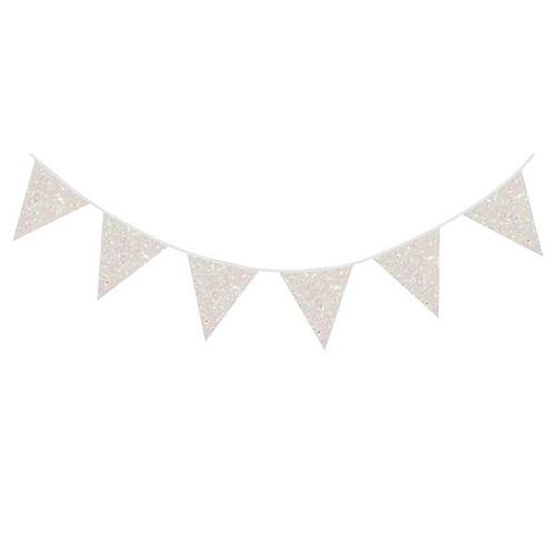 Glitterslinger wit parelmoer 6 meter