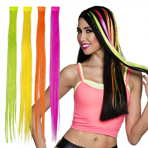 Hairextensions neon