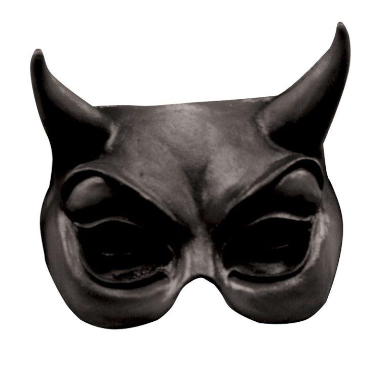 Half mask devil black