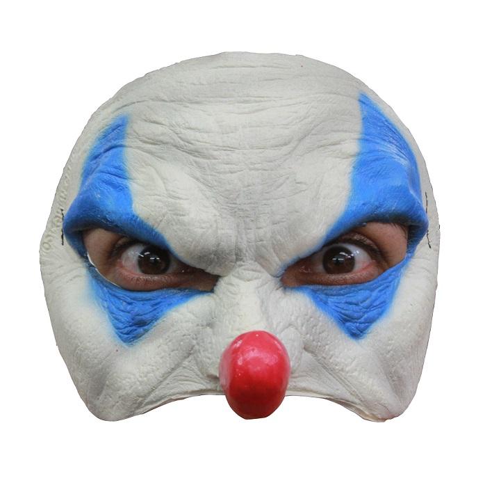 Half masker blue clown
