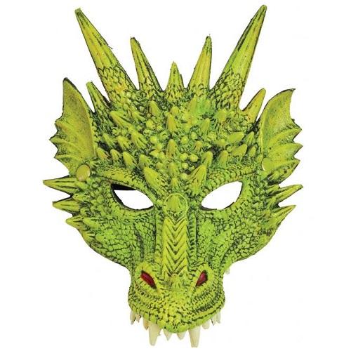Halfmasker draak groen