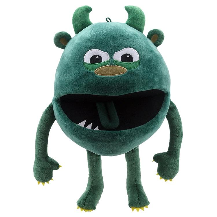 Handpop 20cm baby monster groen